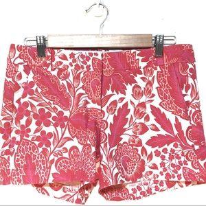 J Crew hot pink/magenta white tropical shorts 6